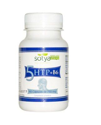 5HTP B Sotya es un complemento alimenticio a base de 5-HTP, L-triptófano y Vitamina B6.