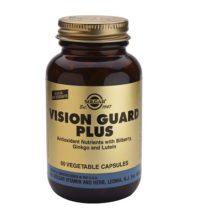 Vision Guard plus 60 cap. veg. Solgar es un complemento alimenticio que a parte de muchas otras propiedades ayuda a conservar un perfecto estado visual y nutrir el nervio óptico. Apto para veganos.
