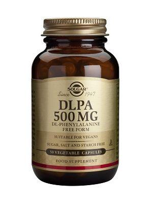 La DL-Fenilalanina teniene poder de bloqueo de ciertas enzimas (la encefalinasa) en el sistema nervioso central, enzimas generadoras de la posible degradación de las hormonas semejantes a la morfina, llamadas endorfinas y encefalinas y que son responsables de sensaciones de bienestar.