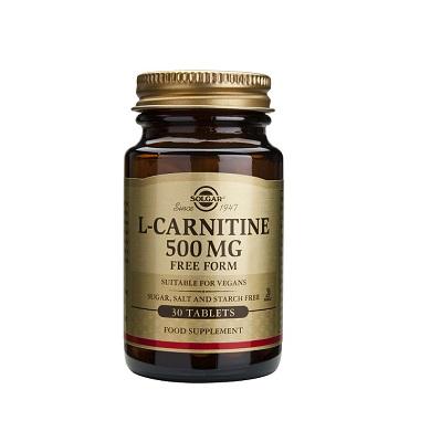 L-Carnitina SOLGAR 500mg es básica para el metabolismo de las grasas, especialmente en las células del corazón y musculares.