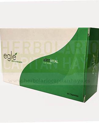 ALERVITAL EGLE es un complemento alimenticio a base de vegetales, quercitina y MSM,contribuyendo a aliviar los molestos síntomas que acompañan a los procesos alérgicos.