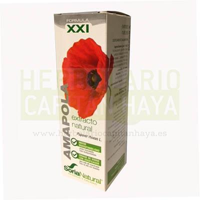 Extracto Amapola Soria Natural es un complemento alimenticio a base de extracto natural de pétalos de Amapola (Papaver rhoeas L.) en glicerina vegetal.