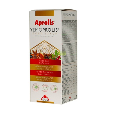 Aprolis Yemoprolis Intersa es un complemento alimenticio que contribuye al bienestar de las vías respiratorias y a reforzar las defensas naturales.