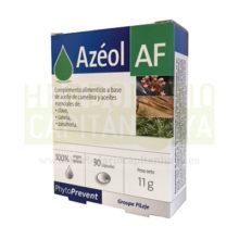 Azéol AF es un complemento alimenticio a base de aceite de camelina y aceites esenciales de: clavo, canela y zanahoria
