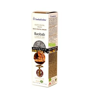 Aceite Baobab Esential Aroms es un aceite vegetal virgen bio de árbol Baobab de Senegal proveniente de sus semillas y utilizado para el cuidado de la piel.