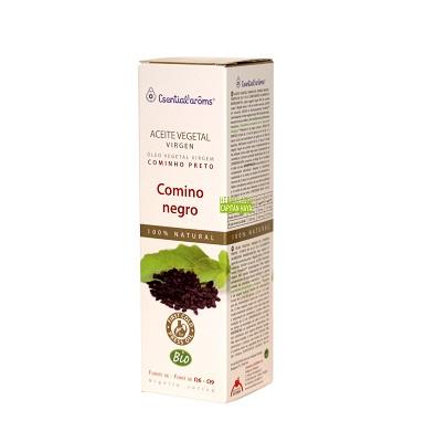 Aceite Virgen Comino Negro Esential Aroms es un aceite vegetal virgen de comino negro fuente de Omegas 6 y 9.