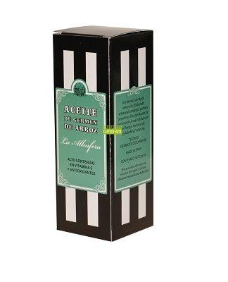 Aceite de Germen de Arroz es un aceite seco de rápida absorción. Elaborado artesanalmente por primera presión en frío, con Aceite de Germen de Arroz cultivado en La Albufera.
