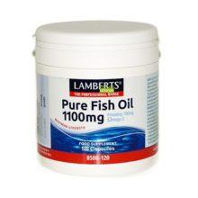 Aceite de Peacado Puro Lamberts 1.100mg. es un complemento a base de concentrado de Aceite de Pescado purificado.