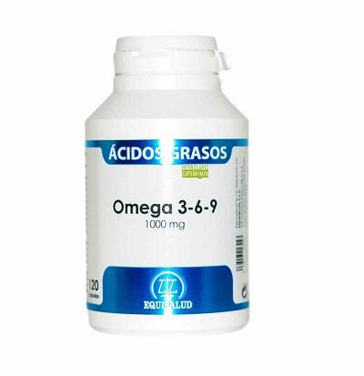Omega 3-6-9 Equisalud es un complemento alimenticio a base de aceite de pescado 35/25 (EPA/DHA) , aceite de lino y aceite de borraja.