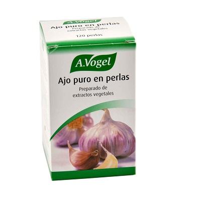 AJO PURO A.Vogel es un complemento alimenticio a base de macerado oleoso de ajo fresco, no desecado. Propiedades beneficiosas para el sistema cardiovascular.