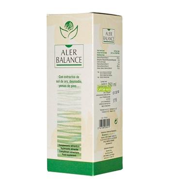 Aler Balance Bioserum es un complemento alimenticio a base de extracto de Sol de Oro,Grosellero negro, Desmodio,Agrimonia,Liquen de Islandia,Cola de caballo  Yemas de pino y Vitaminas y Minerales.