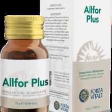 Allfor Plus Forza Vitale es un complemento alimenticio a base de Grosellero negro que favorece el bienestar de nariz y garganta.