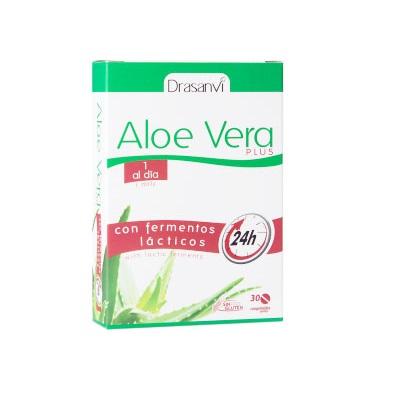 Aloe Vera Plus Drasanvi es un complemento alimentico a base de extractos vegetales de aloe vera y plantas.