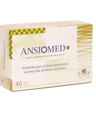 Ansiomed es un complemento alimenticio a base de lúpulo, triptófano y vitaminas que contribuye al funcionamiento normal del sistema nervioso.