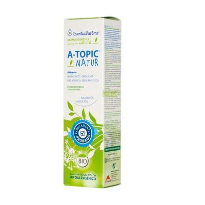Bálsamo Atopic Natur Esential Aroms es un cosmético 100% natural rico en Omega (Ω3, 6, 7 y 9) , para el cuidado de la piel con tendencia atópica, seca y/o muy seca.