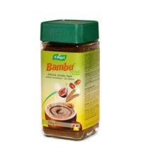 Bambu A.Vogel es una bebida instantánea sustituto del café a base de achicoria, cereales e higo de cultivo biológico. Se puede disfrutar en cualquier momento del día, se puede beber sin problema antes de ir a la cama porque no afecta al sueño. Apto para niños.