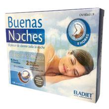 BUENAS NOCHES ELADIET es un complemento alimenticio a base de Melatonina, GABA, valeriana, amapola de california, pasiflora Vitamina B3 y B6.