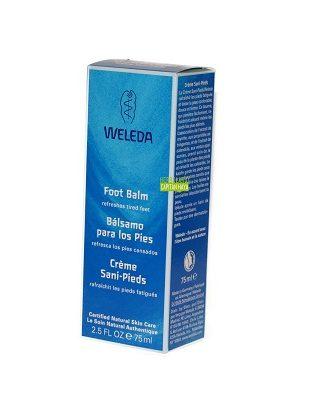 Balsamo para los pies Weleda a base de extracto de mirra es una crema con textura no grasa que alivia, suaviza y descansa los pies, especialmente cuando están secos, agrietados o cansados.