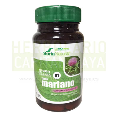 MGDOSE CARDO MARIANO es un complemento alimenticio a base de extracto de Cardo Mariano estandarizado.