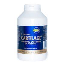 Cartilage GSN 270 cápsulas es un complemento alimenticio a base de Cartílago de Tiburón.