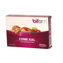 Come Kal Biform Dietisa es un complemento alimenticio compuesto a base de extracto de Phaseolus y fibras.