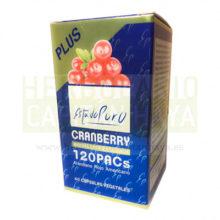 Cranberry Estado Puro Tongil es un complemento alimenticio a base de extractos secos concentrados de frutos de Cranberry estandarizados en proantocianidinas (PACs) y Vitamina C.