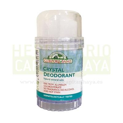 Desodorante mineral 80g Corpore Sano está creado a base de minerales naturales, regulando la sudoración y evitando el mal olor al crear una barrera protectora. Testado dermatologicamente.