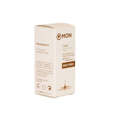 Aceite esencial Cedro Mon puro 100% destilado al vapor de la madera de cedro.