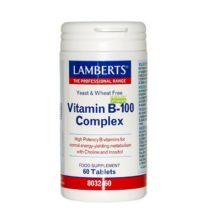 El Complejo de Vitaminas B-100 es un complemento alimenticio compuesto por todos los tipos de vitaminas del grupo B en una proporción de 100Mg.