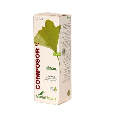 Composor 41 Gincox Complex Soria Natural es un complemento alimenticio que contribuye a la circulación y a la memoria.