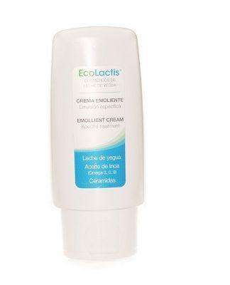 Crema Emoliente Ecolactis es un cosmético de leche de Yegua específica recuperadora, especialmente formulada para pieles con problemas dermatológicos que necesitan un aporte extra de hidratación y regeneración.