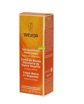 Crema de manos de Espino Amarillo Weleda a base de aceite de Espino Amarillo es un perfecto cuidado diario que suaviza e hidrata las manos y las protege del desecamiento.