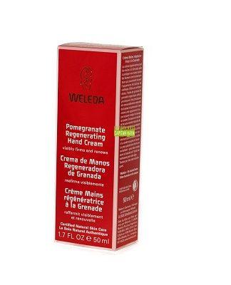 Crema de manos regeneradora de Granada Weleda es un cuidado antioxidante intensivo que regenera la piel a base de aceite de Granada, retrasando los signos del envejecimiento cutáneo.