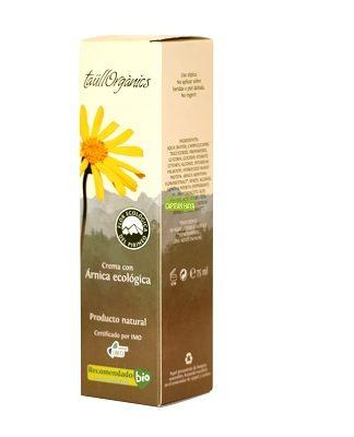 Crema Arnica Taullorganics es una crema con efecto relajante par la acción del extracto ecológico de flores de árnica cultivadas en el Pirineo.