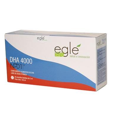 DHA 4000 EGLE es un complemento alimenticio, el DHA es un factor esencial en la función cerebral, visual, y en el envejecimiento.