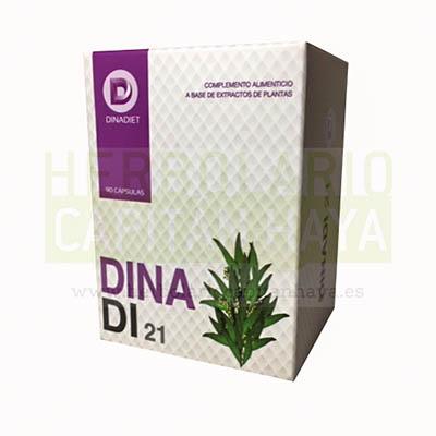 DINADI 21 (Con Inulina) es un complemento alimenticio a base de Inulina, Eucalipto, Judía y Fenogreco.
