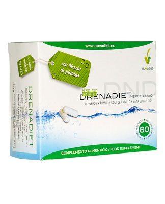 Drenadiet Vientre Plano es un complemento alimentico a base de Ortosifón, Abedul, Cola de Caballo, Vaína de Judía y Sen.