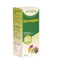 Dermaplan Biover es un complemento alimenticio a base de plantas frescas de cultivo ecológico controlado de de recolección silvestre, reforzado con extractos de yemas y brotes jóvenes.Complemento alimenticio a base de Bardana, cardo mariano y pensamiento silvestre.
