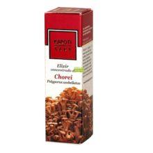Elixir Chorei Karoti Take Hiranyagarba es un complemento alimenticio a base de extracto de hongo Chorei y Piedra Chanca, Arroz y Coliflor combinado con Aceite de Oliva Virgen, extractos de plantas y aceites esenciales.