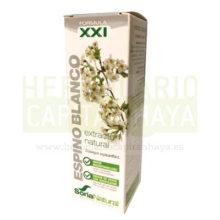 Extracto Espino Blanco Soria Natural es un complemento alimenticio a base de extracto natural de flores y hojas de Espino Blanco (Crataegus oxyacantha L. ) en glicerina vegetal