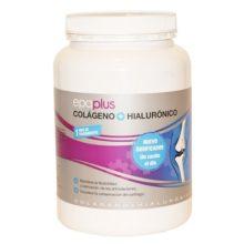 Epaplus Colageno y Hialuronico es un complemento alimenticio a base de colágeno y ácido hialurónico. El ácido Hialurónico contribuye a mantener la piel norlmalmente hidratada y estimula la producción normal de colágeno.