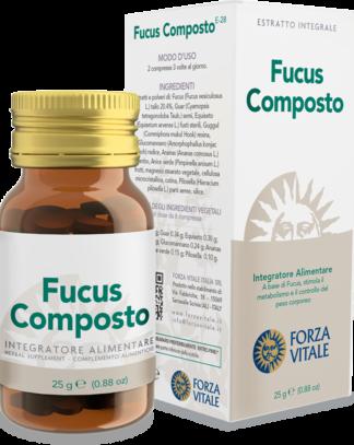 Fucus Composto Forza Vitale es un complemento alimenticio a base de Fucus que estimula el metabolismo.