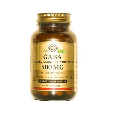 Gaba Solgar es un complemento alimenticio a base de ácido gamma aminobutírico.