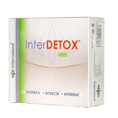 Interdetox Internature es un pack que incluye Interepa, Intercir, Interdiu en formatos de 30ml. El uso combinado de estos tres productos facilita una adecuada y profunda activación de los mecanismos naturales de desintoxicación funcional.