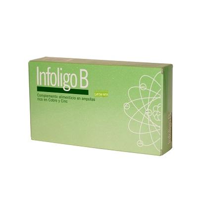 Infoligo B Artesania es un complemento alimenticio indicado en caso de infecciones, depresiones nerviosas, vejez prematura, antiinflamatorio. Diatesis IV.