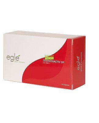 Inmunoactiv DF Eglé es un complemento alimenticio a base de Reish,i, Agaricus Blazei, Arbol de Alerze y Jengibre.