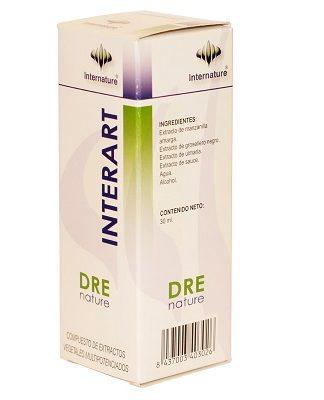 Drenature Interart Internature es un complemento alimenticio que favorece la elasticidad articular, mejorando el movimiento.