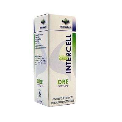 Intercell Dre Nature Internature es un complemento alimenticio a base de extractos de plantas.
