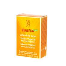 Jabon de Calendula Weleda está especialmente formulado para pieles delicadas así como para el aseo de los niños.