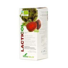 Lacticol Soria NAtural es un complemento alimenticio a base de jugos de col y remolacha fermentada,ácido láctico, Lactobacillus casei, Bifidobacterium bifidum, Lactobacillus acidophilus.